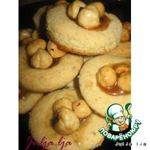 Рецепт: Медово-овсяное печенье Три орешка