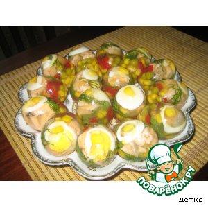 """Рецепт: Яйца """"Морской коктель"""""""