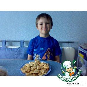 Рецепт: Песочное печенье с орешками