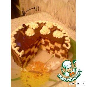 Рецепт: Шахматный торт