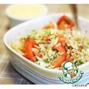 Рецепт: Салат с фетой, дайконом и грецким орехом