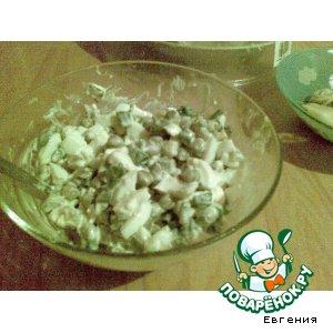 Рецепт: Салат с зеленым луком