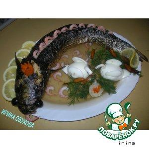 Рецепт: Рыбка фаршированная, заливная