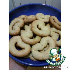 Рецепт: Печенье Сахарные крендельки