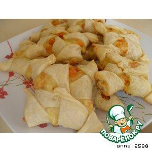 Рецепт: Слоеное печенье с тыквой и сыром