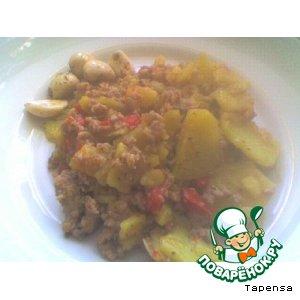 Рецепт: Картофель в греческом стиле