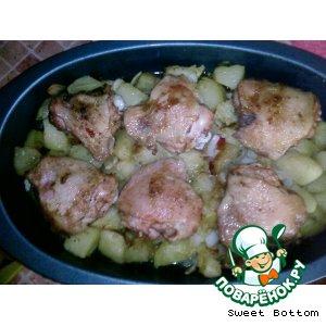 Рецепт: Сочные куриные бедра