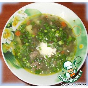 Рецепт: Витаминный борщ Зеленый