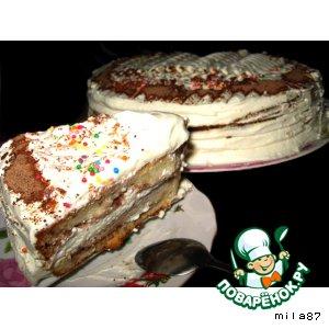 """Рецепт: Торт  """"Великое изобретение для молодых хозяек ))) """""""