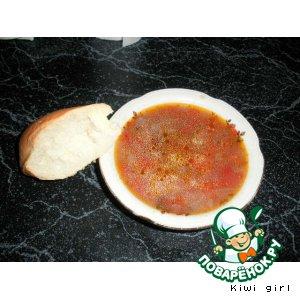 Рецепт: Острый фасолевый суп