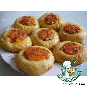 Рецепт: Ватрушки морковные