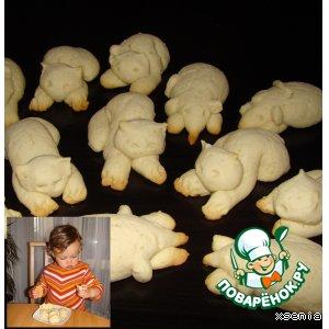 Рецепт: Печенье Кошки-Мышки