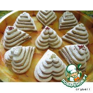 Рецепт: Печенье Пирамидки