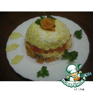 Рецепт: Салат слоеный с семгой