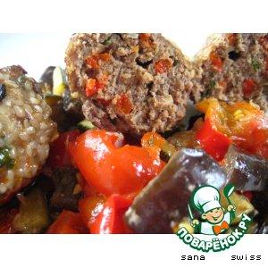 Рецепт: Турецкие котлеты Кефте с овощным гарниром