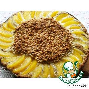 Рецепт: Пирог с семечками и персиками