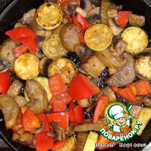 Рецепт: Жареные овощи с грибами