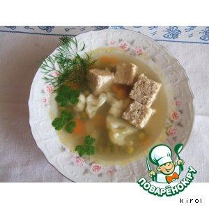 Рецепт: Суп куриный с паштетом
