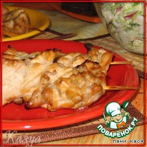 Рецепт: Куриные шашлычки