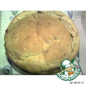 Рецепт: Хлеб с луком, беконом и грибами
