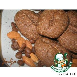 Рецепт: Шоколадно-кофейное печенье