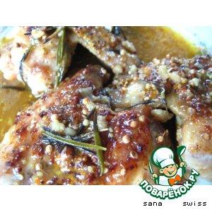 Рецепт: Куриные крылышки в чесночно-пивном соусе