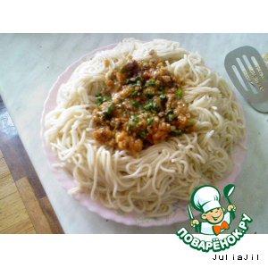 Рецепт: Спагетти с острым соусом