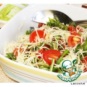 Рецепт: Салат с рукколой и помидорами черри