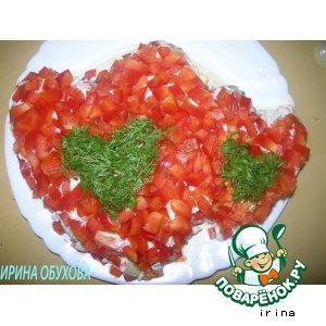 """Рецепт: Салат """"Два сердца"""""""