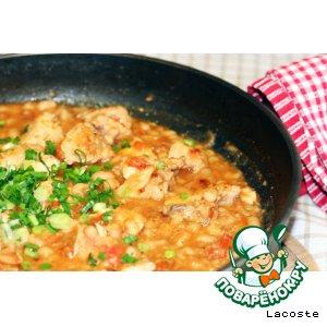 Рецепт: Курица с фасолью