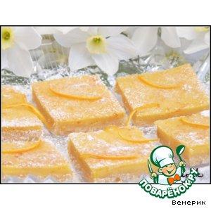 """Рецепт: Печенье """"Апельсиновые квадратики"""", или  апельсиновая радость"""