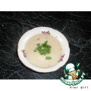 Рецепт: Суп-пюре из цветной капусты с фасолью