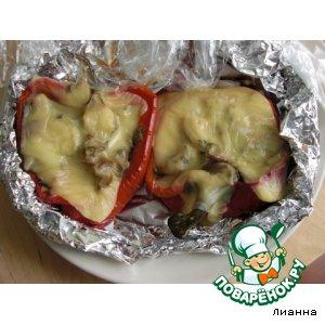Рецепт: Фаршированный перец с грибами