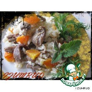 Рецепт: Плов с грибами в горшочках