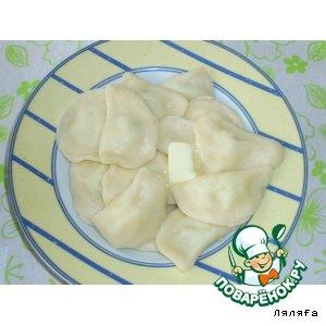 Рецепт: Вареники с картошкой едим большою ложкой