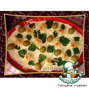 Рецепт: Салат с тунцом и морской капустой