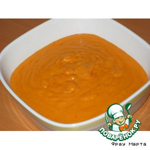 Рецепт: Сливочный соус с красным перцем