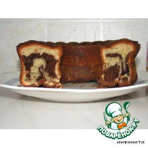 Рецепт: Кекс мраморный с какао