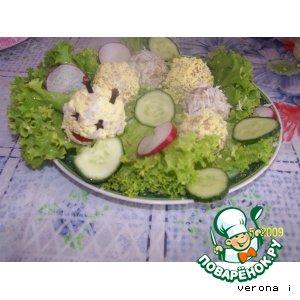 Рецепт: Печень Гусеница