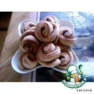 Рецепт: Печенье Розочки с корицей