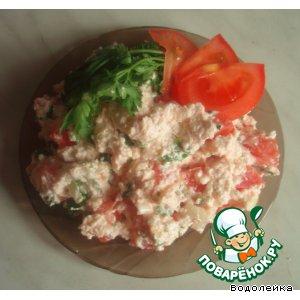 Рецепт: Салат из творога и овощей