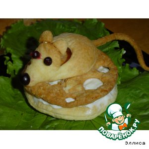Рецепт: Слойки Мышка на сыре