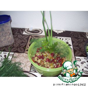 Рецепт: Огуречный салат по-другому