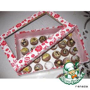 Рецепт: Печенье Шоколадные шарики
