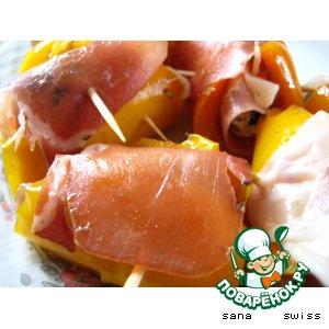 Рецепт: Рулетики   из   салатного    перца