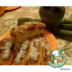 """Рецепт: Пирог с вишней """"Осьминожка"""""""