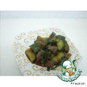 Рецепт: Мясо с огурцами