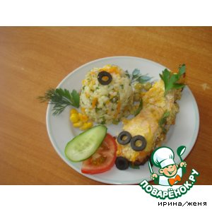 Рецепт: Рыба, запеченная под сыром