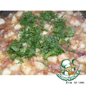 Рецепт: Картофель с тушенкой по-белорусски