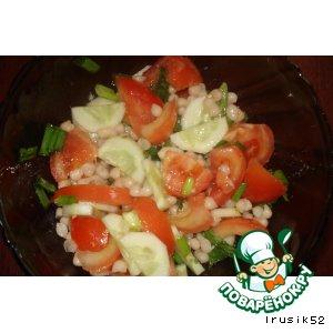 Рецепт: Салат овощной с белой фасолью